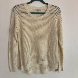 Madewell Northshore Pull over Cream Sweater